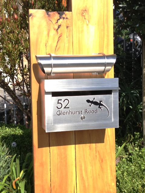 Landscape Letterbox with Newspaper Tube