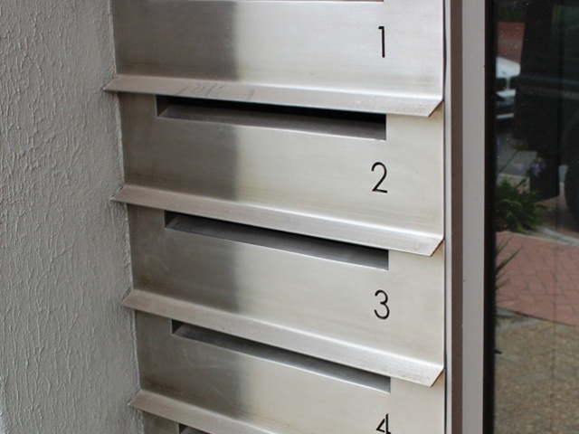 External View of Double Sided Letterbox Bank
